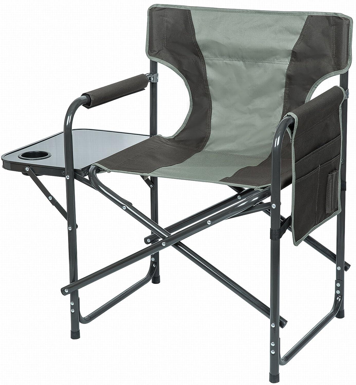 VISUALIZATION Toolkit Outdoor – Campingstuhl, Komfort Relax – mit Tablet und Seitentaschen – faltbar