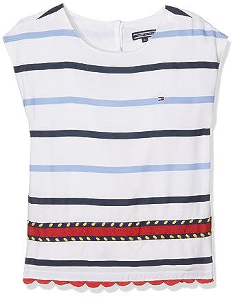 a81290971573 Tommy Hilfiger Embellished Rayon Stripe Top S S