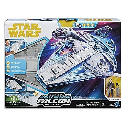 Amazon.com: Star Wars Force Link 2.0 Kessel Run Millennium Falcon ...