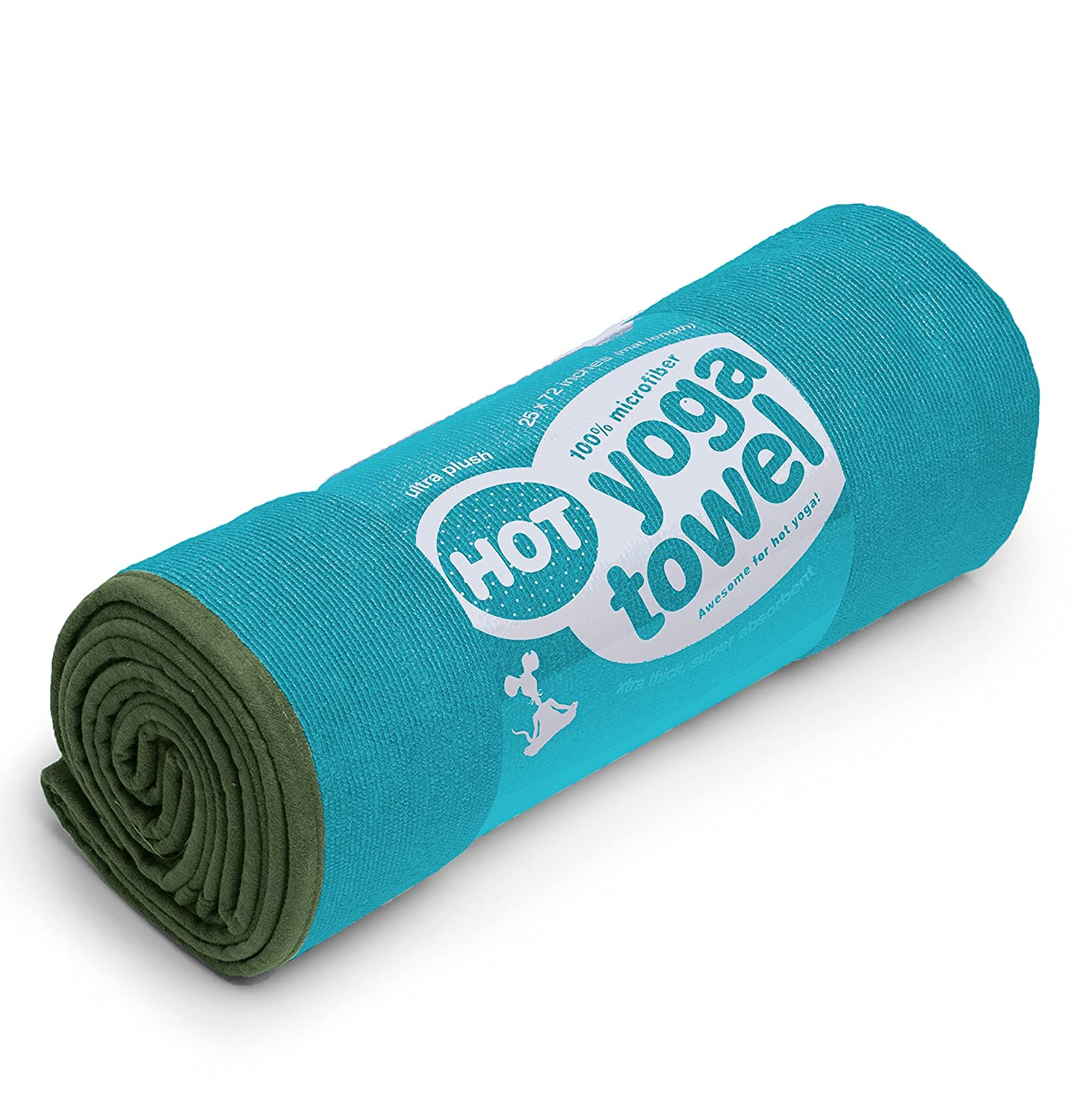 YogaRat HOT YOGA TOWEL: 100/% durable to lay on top of your yoga mat thick super-absorbent microfiber 26x72, 25 x 72 or 24 x 68 for better grip and moisture absorption Offered in multiple mat-length sizes 16 x 25, sold and a hand-size towel