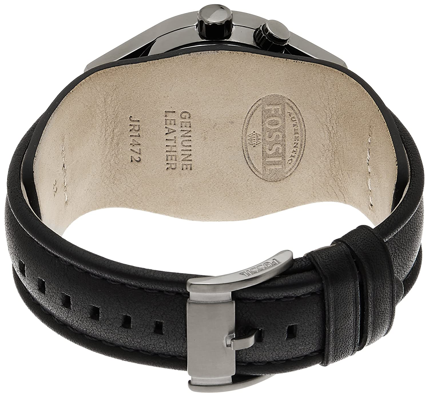 Amazon.com: Fossil Mens JR1472 Coachman Stainless Steel Ana-Digi Watch with Black Leather Band: Watches