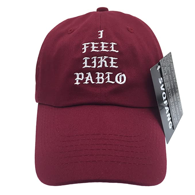 b37d862a411 I Feel Like Pablo Hat Cap In Burgundy Yeezy Yeezus Baseball The Life Of  Pablo  Amazon.ca  Clothing   Accessories