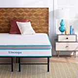 Linenspa 12 Inch Gel Memory Foam Hybrid Mattress with Linenspa 14 Inch Folding Platform Bed Frame - California King