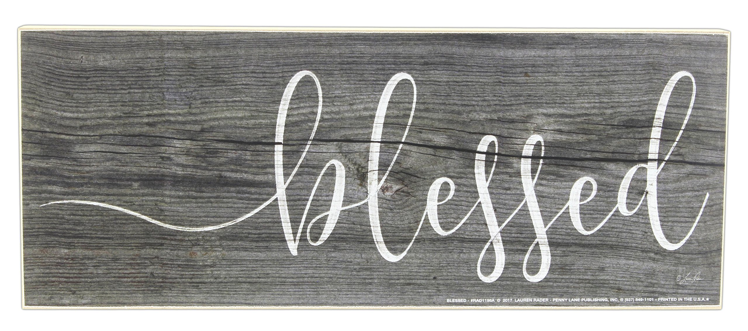 Jan Michaels 10'' Sentimental Tabletop Wood Block (Blessed)