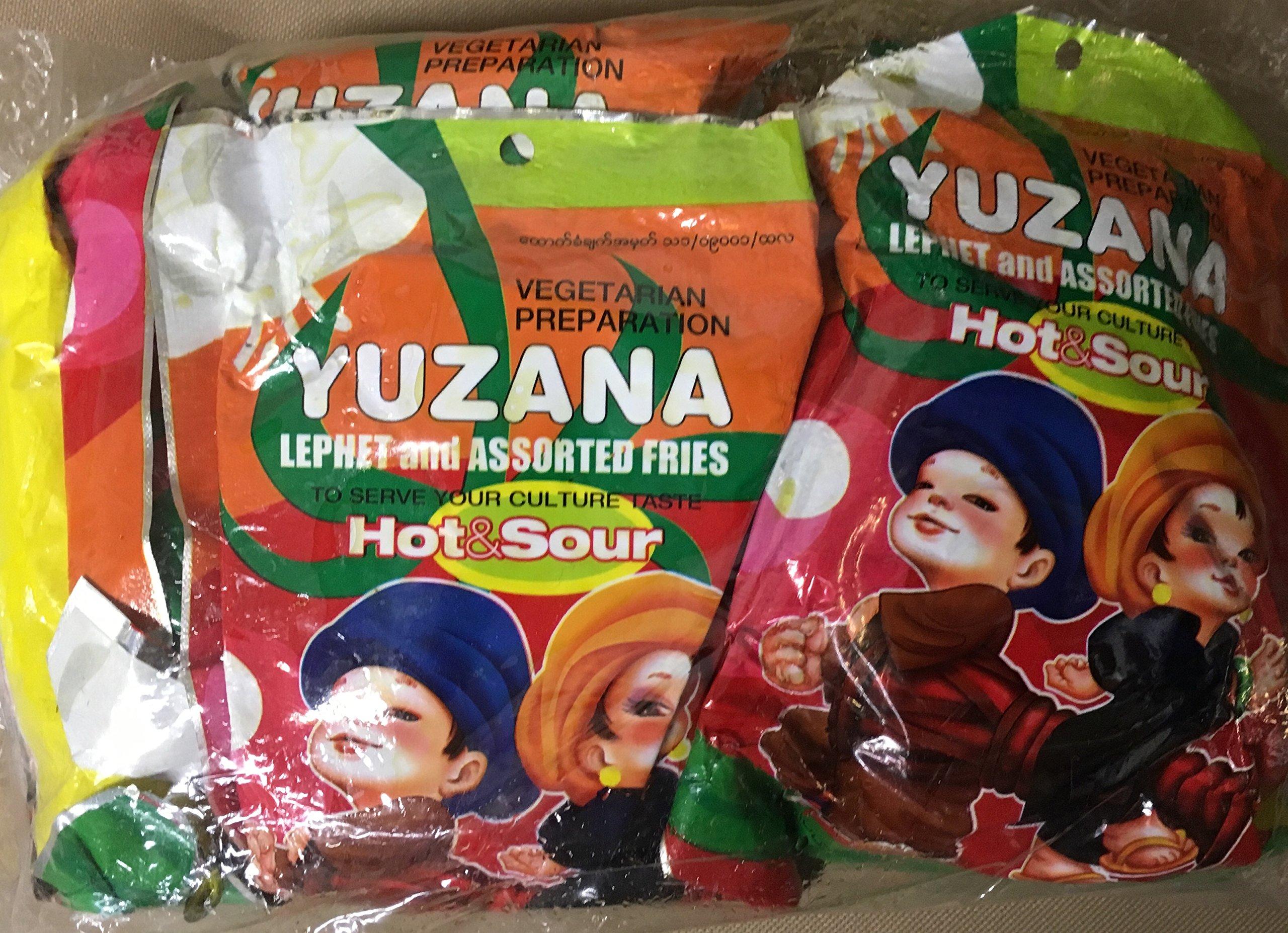 YZN Tea Leaves & Crispy Mixed Beans with Chili (10 Pkgs)ချဉ်စပ်