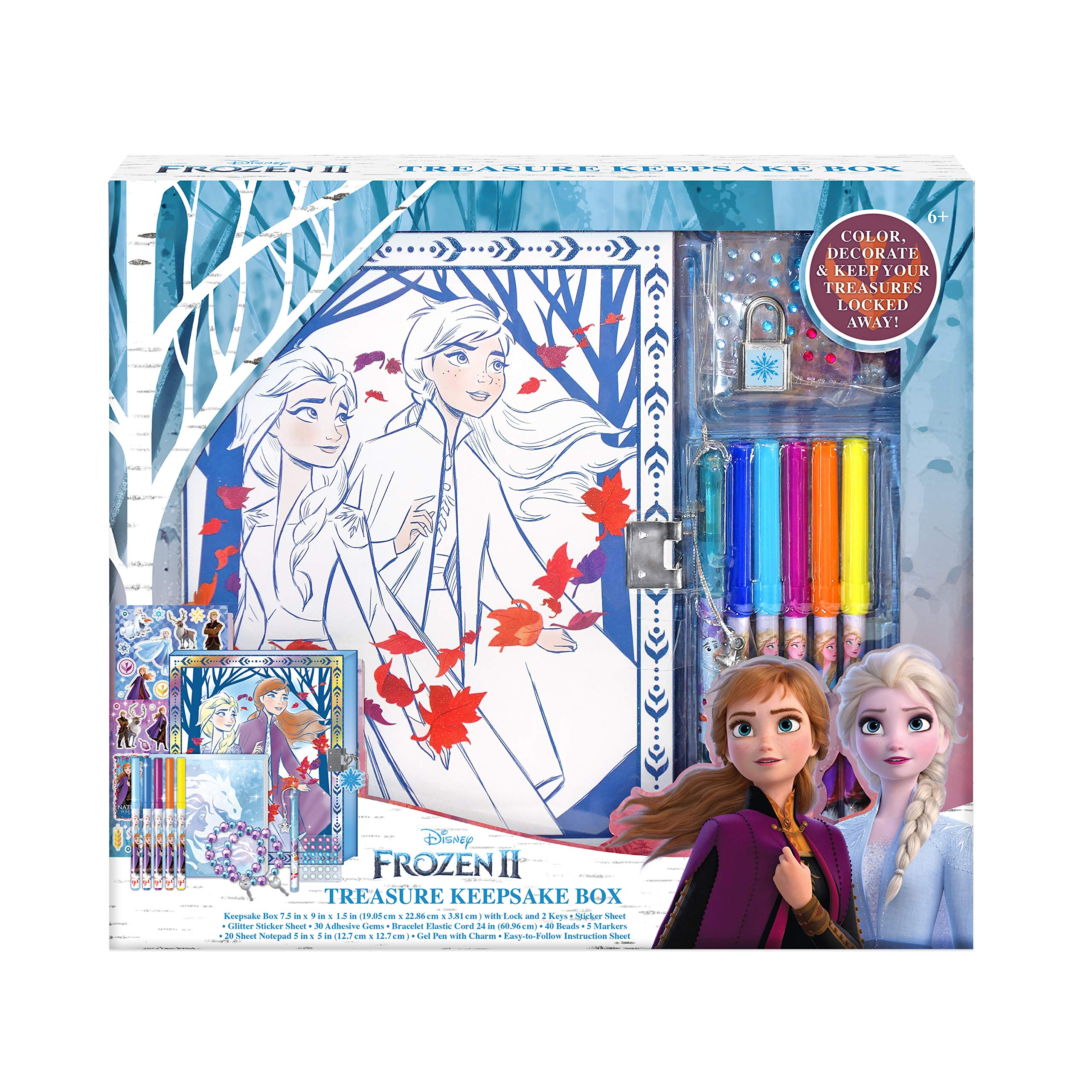 Frozen II Anna Elsa Rubbing Plates Activity Set Art Craft