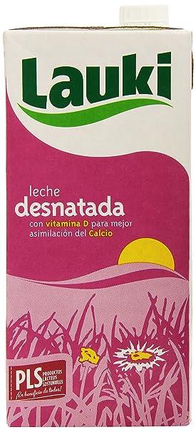 Lauki - Leche Desnatada con Vitamina D, 1 L