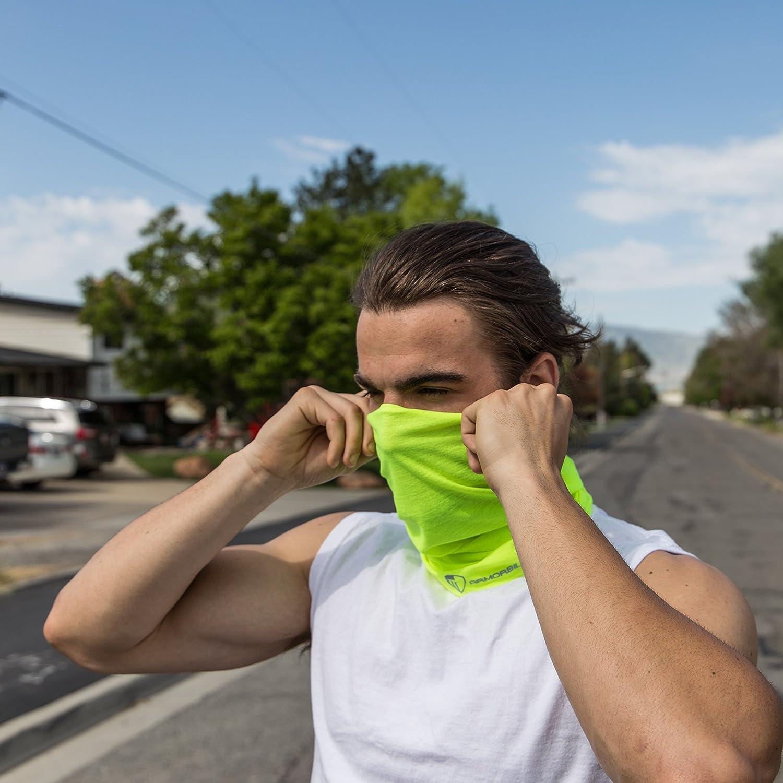 Neck Gaiter High Visibility Reflective Face Cover Scarf Summer Bandana Headwear