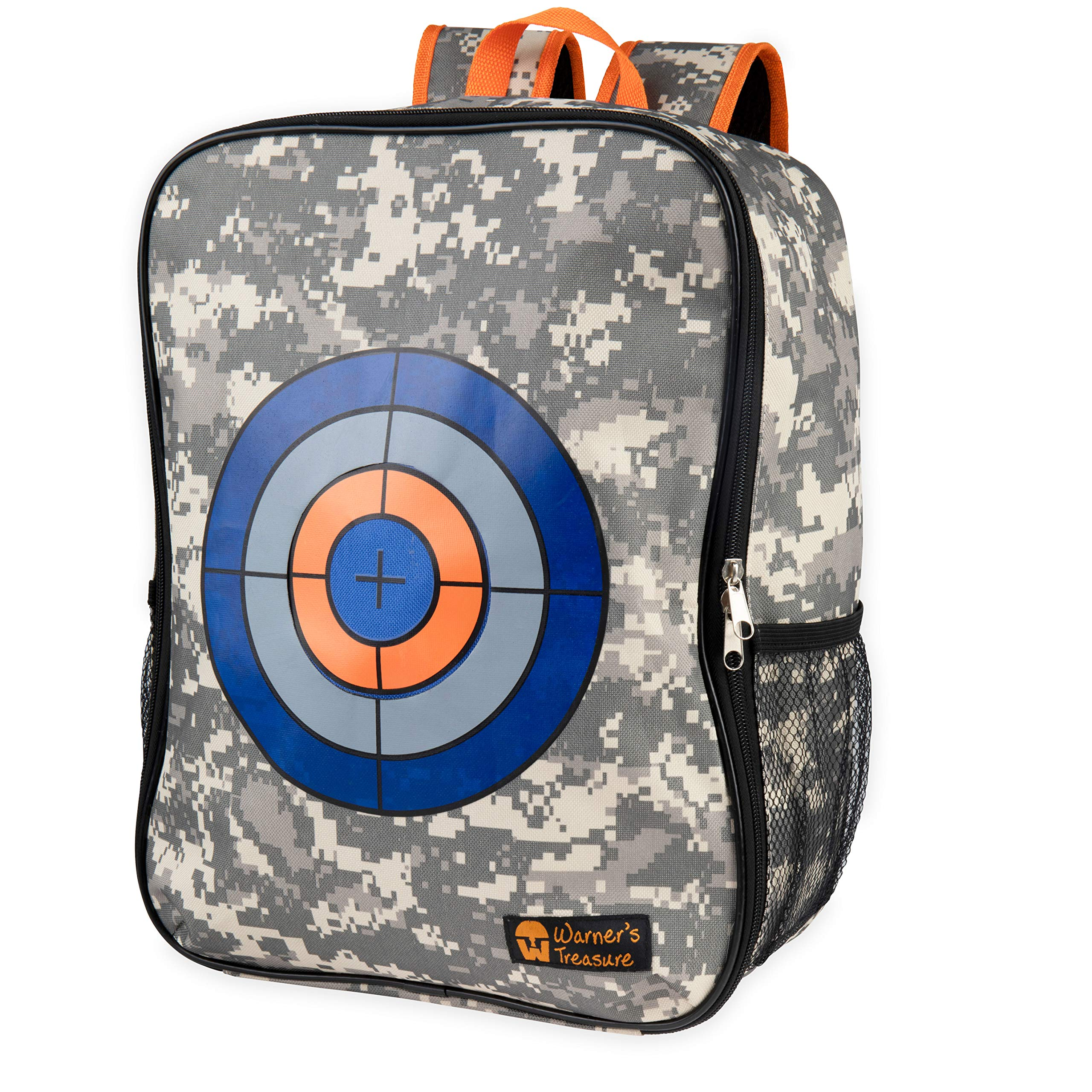 Warners Treasure Target Backpack Storage Carry Equipment Bag for Nerf N-Strike Elite / Mega / Rival Series by Warners Treasure