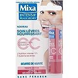 Mixa Intensif Peaux Sèches - Soin des Lèvres Nourrissant CC au Beurre de Karité Teinte Cerise - 4.7 ml