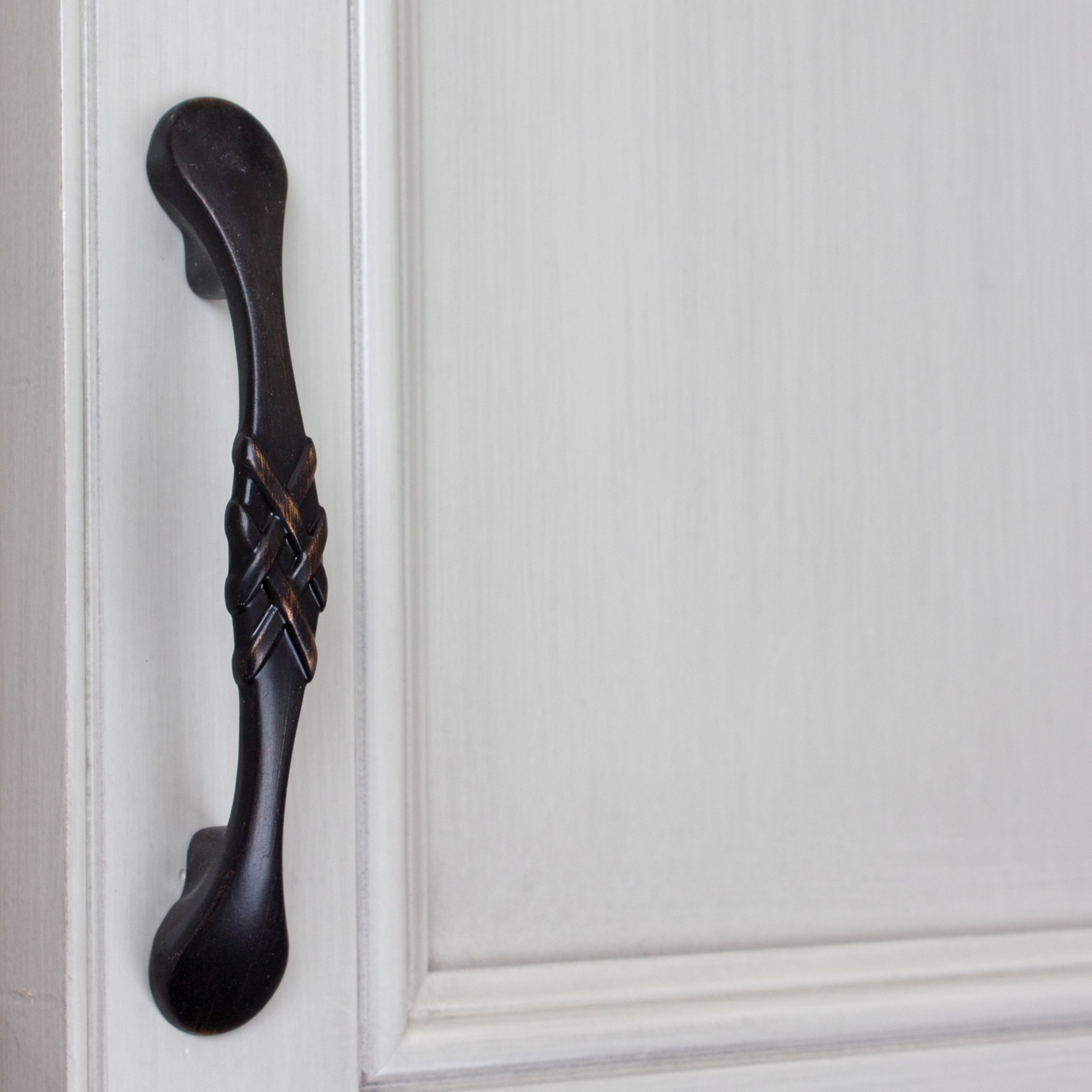 GlideRite Hardware 83063-ORB-50 Braided Cabinet Pulls, 50 Pack, 3'', Oil Rubbed Bronze by GlideRite Hardware (Image #4)