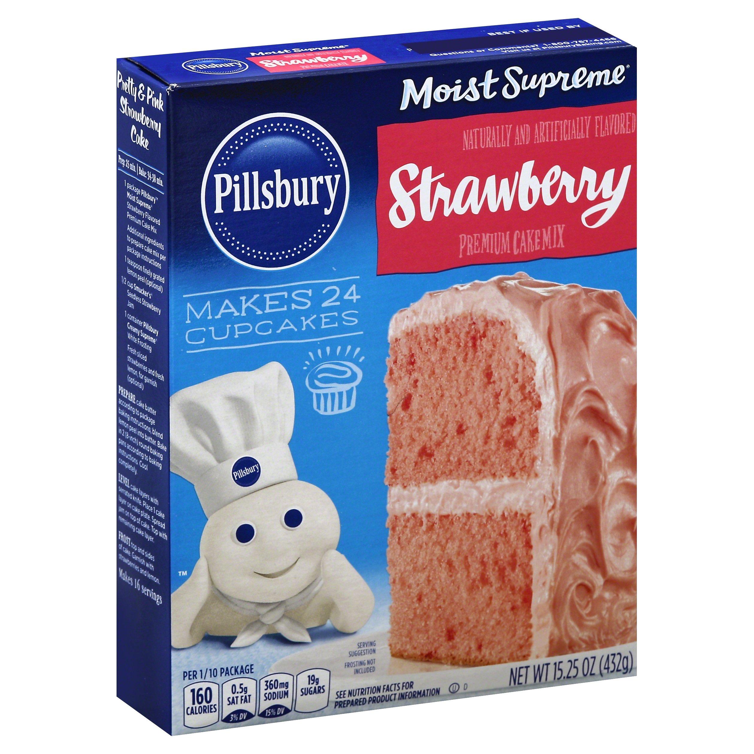 Pillsbury Cake Mix Moist Supreme Strawberry, 15.25 oz