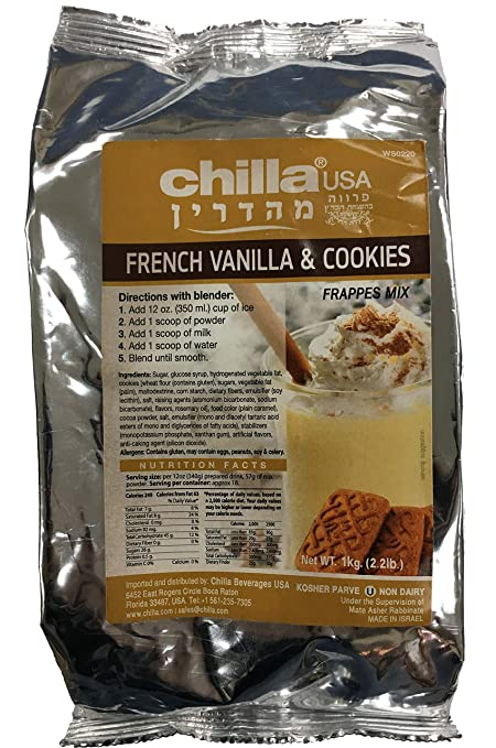 Chilla by SSE French Vanilla and Cookies Frappes Mix, 2.2 Pound Bag: Amazon.com: Grocery & Gourmet Food