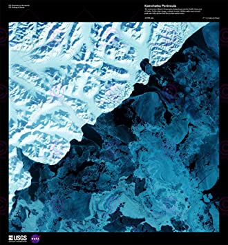 Amazoncom SCIENCE MAP SATELLITE KAMCHATKA RUSSIA ICE SNOW