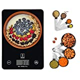 Upscaler Food Scale WITH Measuring Cups & Spoons, 8pcs Stainless Steel Handles, Accurate Kitchen Weighing Scale…