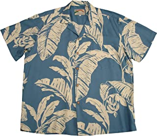 product image for Paradise Found Mens Paradise Banana Shirt Blue 5X