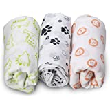 LuvLap 100% Cotton Muslin Baby Swaddles - Animals Print 0+ Month