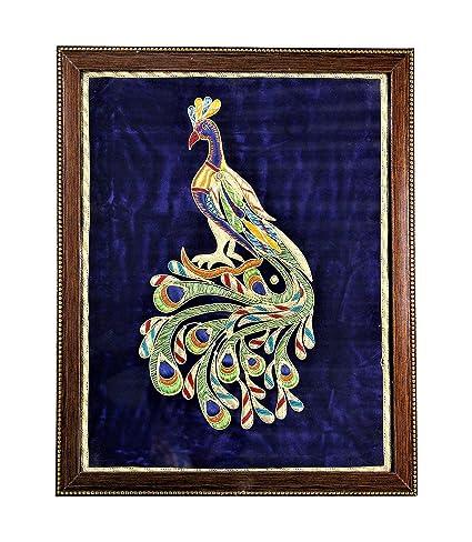 Buy Sweta Art And Crafts Beautiful Zari Zardozi Peacock Handmade