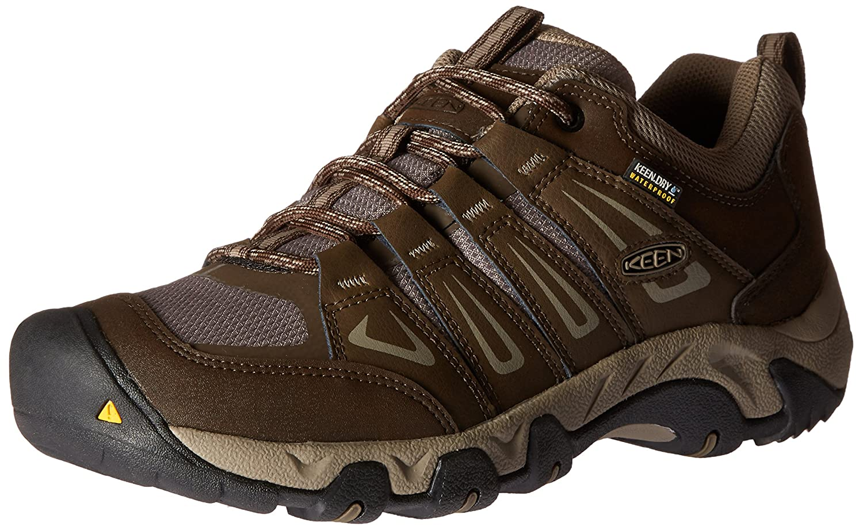 Marron (Cascade Brindle Cascade Brindle) KEEN Oakridge WP, Chaussures de Randonnée Basses Homme 44 EU