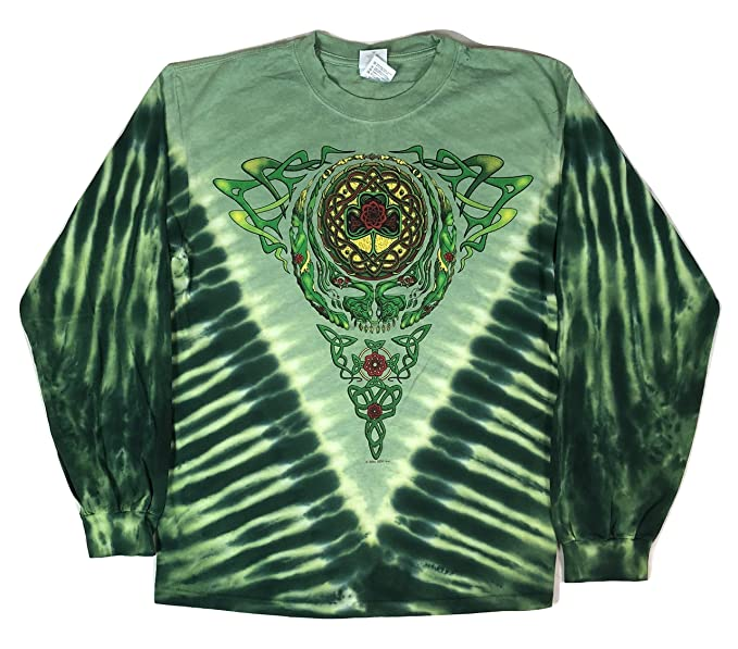 06a3a6b60d8b Blue Mountain Dyes LLC Licensed Men s Grateful Dead Celtic Knot Long Sleeve  T-Shirt (
