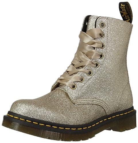 821d9b294 Dr. Martens Women's 1460 Pascal Glitter Fashion Boot Pale Gold 3 Medium UK  (5