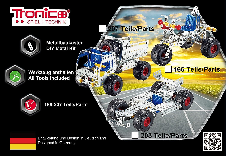 Metallbaukasten Bausatz Einsteiger Starter Set Motorrad Trike 192 Teile ab 7 J. Baukästen & Konstruktion