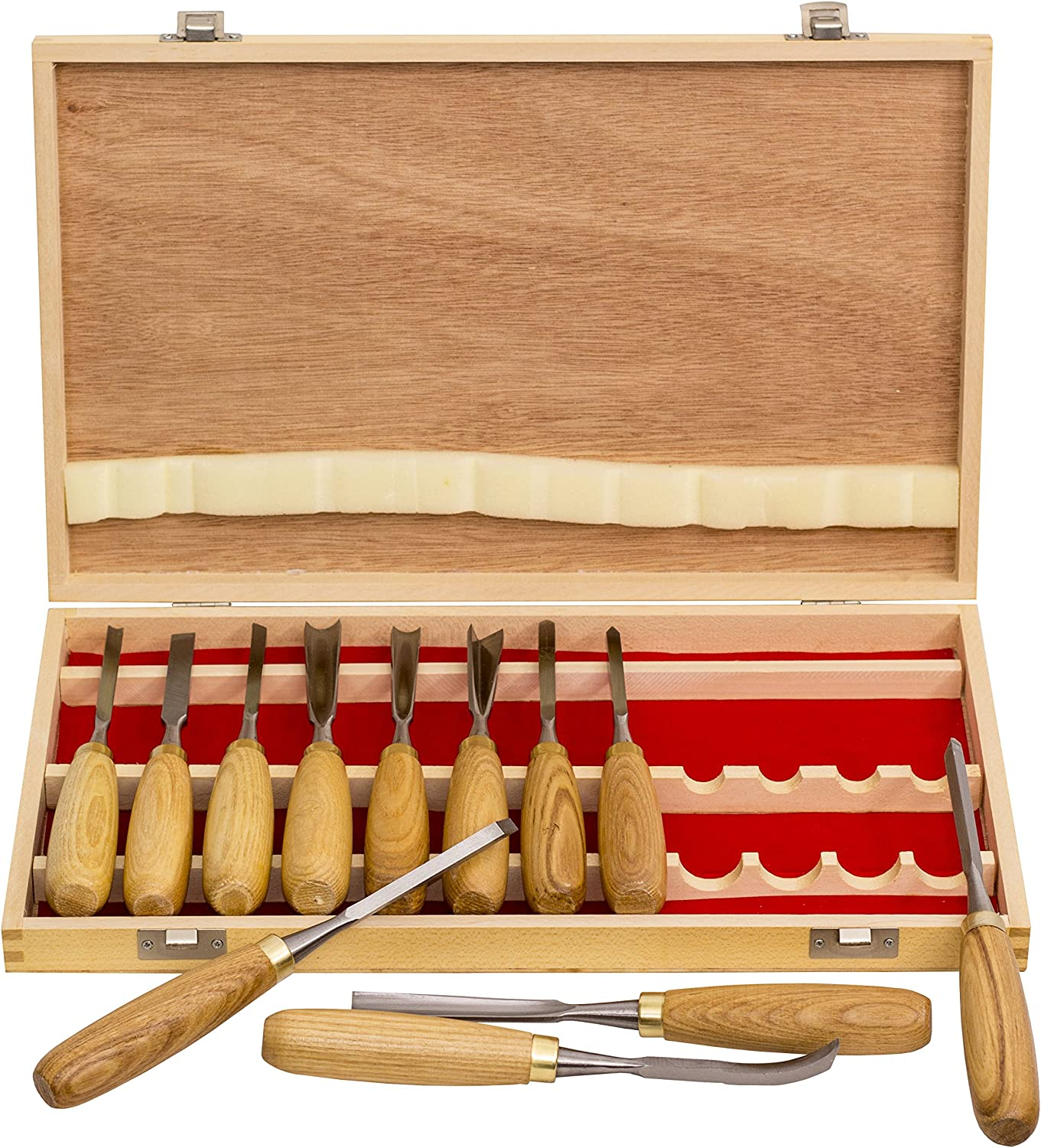 12 Pcs Luxury Wood Carving Kit Chisel Tool Woodworking Cutter Hand Tools Set