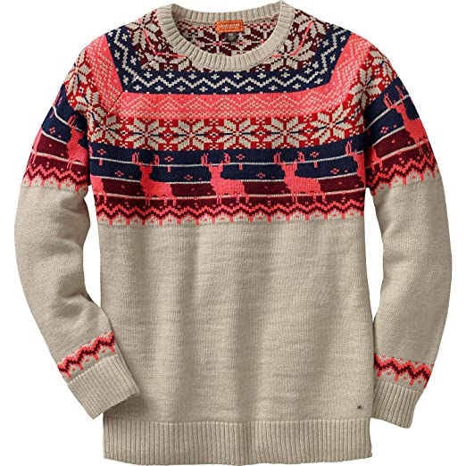 10e82a5f3cc00 Legendary Whitetails Ladies Sleigh Ride Fair Isle Sweater Winter Heather  X-Small at Amazon Women s Clothing store