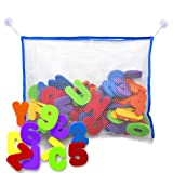 Amazon Price History for:Bath Letters And Numbers With Bath Toy Organizer. The Best Educational Bath Toys with Premium Bath Toy Storage and Non Toxic BPA Free Foam Letters. Perfect Gift With Bonus Toddler Care Guide E-Book