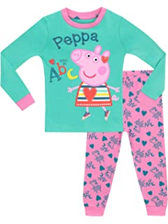 Peppa Pig Pijama para niñas Ajuste Ceñido