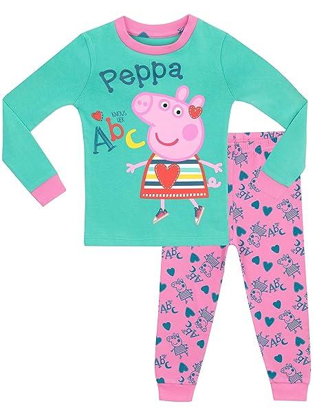 Peppa Pig - Pijama para niñas - Peppa Pig - Ajuste Ceñido - 18 - 24