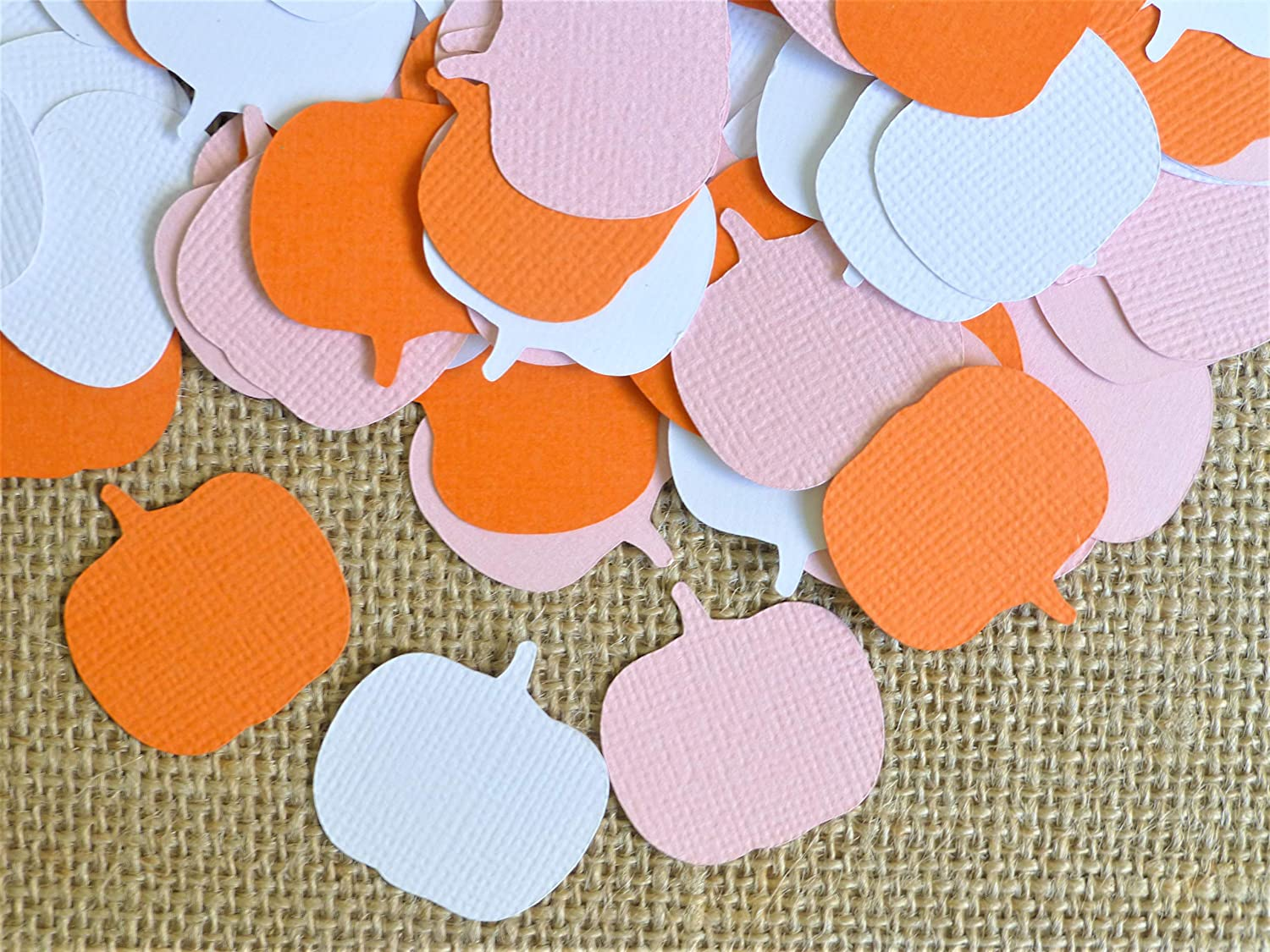 Pumpkin Confetti Pink Orange White Little Pumpkin Baby Shower 1st Birthday Party Ideas It's A Girl Pumpkin Table Decorations Set of 100