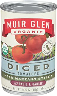 product image for Muir Glen Canned Tomatoes, Organic Diced Tomatoes with Basil & Garlic, San Marzano Tomatoes, No Sugar Added, 14.5 Ounce Can