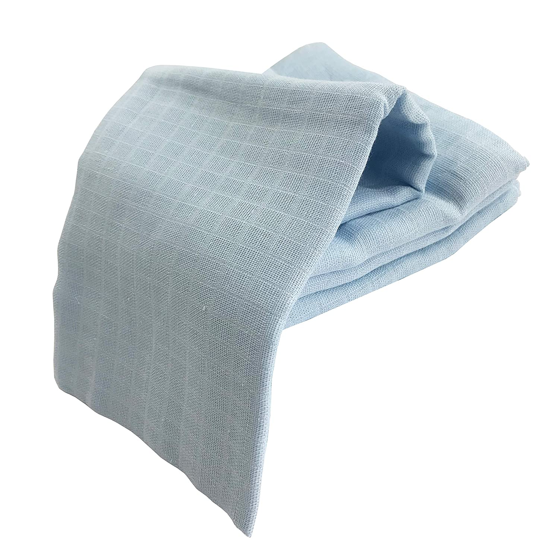 /ÖKO-TEX 2 Wei/ß, 2 Blau, 100x100 cm 4x Puckt/ücher gro/ße Spuckt/ücher Mullwindeln 100 120 140 160 cm Baby Baumwolle Pucktuch