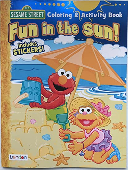 Amazon.com: Sesame Street Fun in the Sun Coloring and Activity Book ...