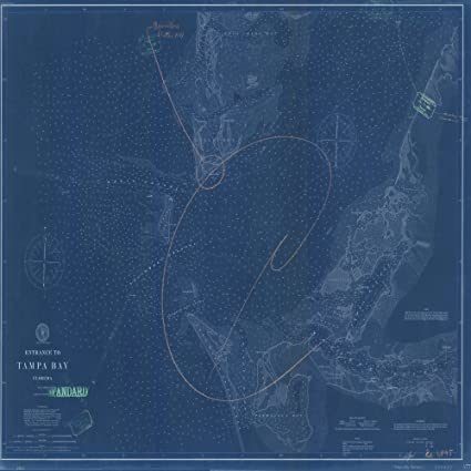 Amazon 8 x 12 reprinted blueprint style nautical map of 8 x 12 reprinted blueprint style nautical map of entrance to tampa bay 1897 noaa 86a malvernweather Image collections