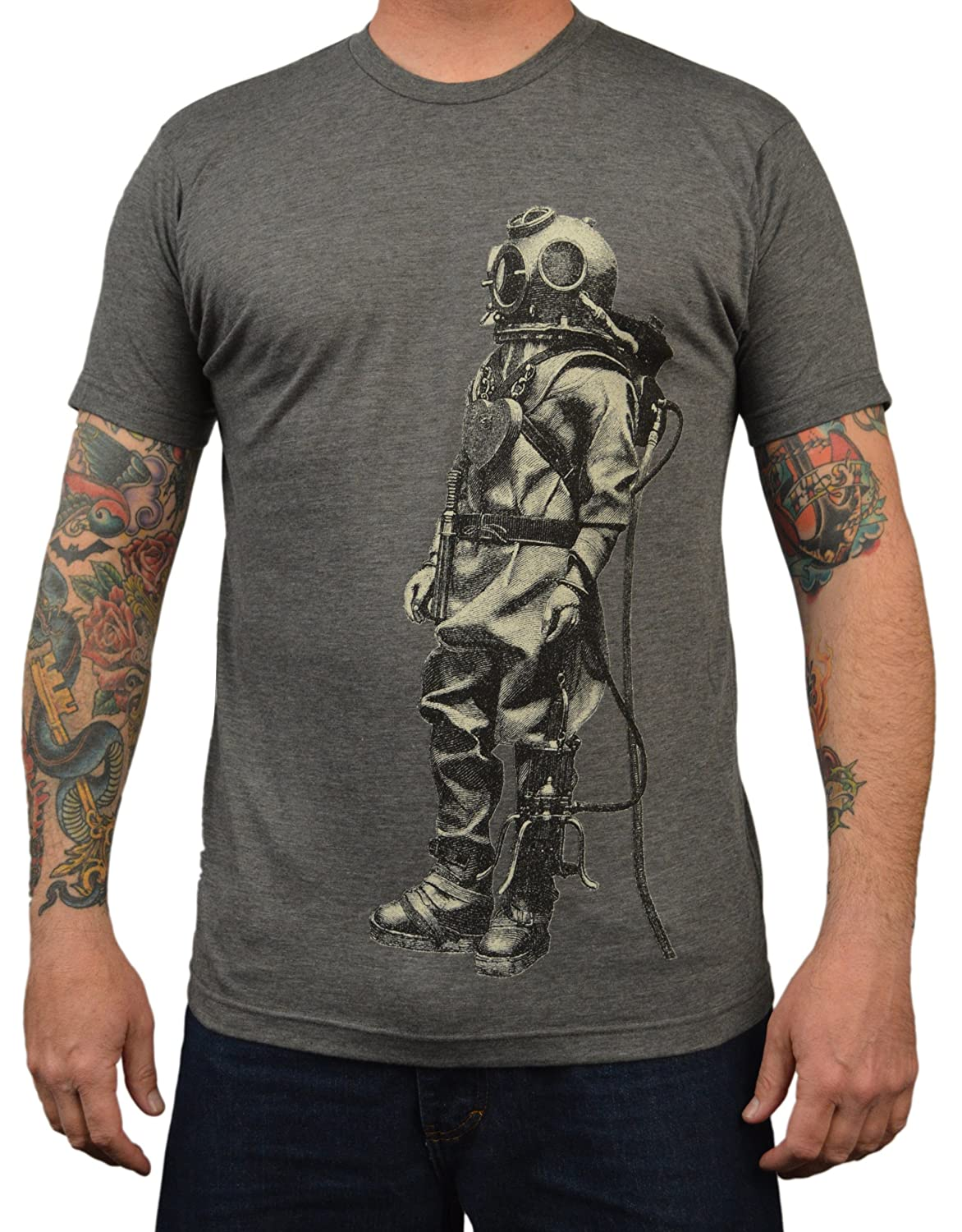 Men's Annex Explorer Ocean Sea Diver Steampunk Vintage Retro Art T-Shirt Tee
