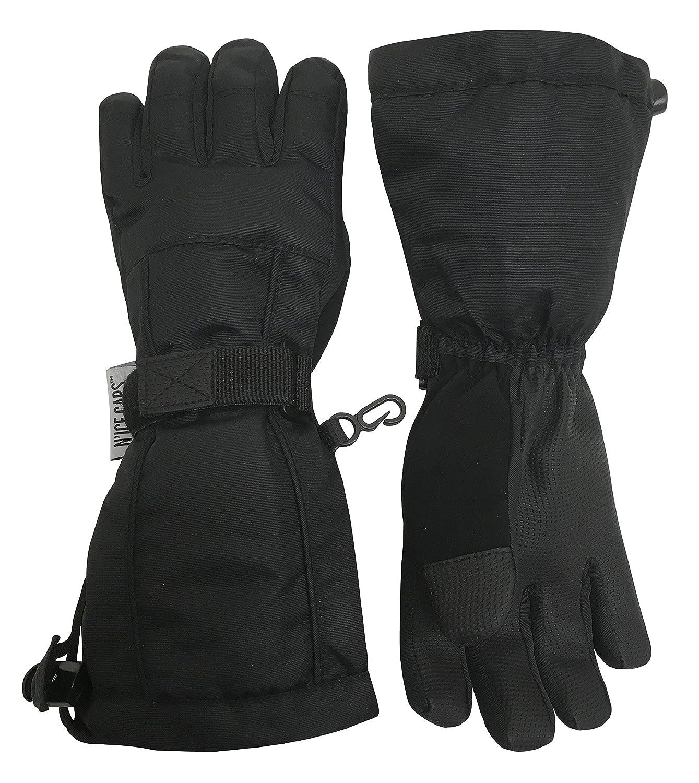 NIce Caps Mens and Womens 100 Gram Thinsulate Waterproof Ski Mittens and Gloves