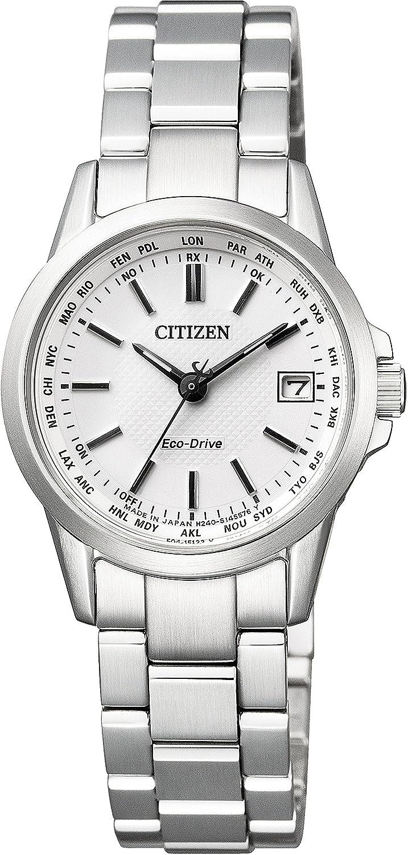 [シチズン]CITIZEN 腕時計 エコドライブ電波 ダイレクトフライト 針表示式 ペアモデル EC1130-55A レディース B01EHH11RW