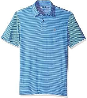 16cef361 IZOD Men's Performance Golf Greenie Stripe Polo at Amazon Men's ...