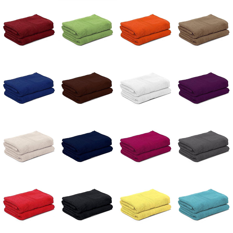AR Line 2er Pack zum Sparpreis, Frottier Handtuch-Serie - in 8 Größen und 16 Farben 100% Baumwolle 500 g m², 2er Pack Saunatücher XXL Saunalaken   Strandtücher (100x200 cm) in Anthrazit-Grau B06XJSKQVL Strandtücher