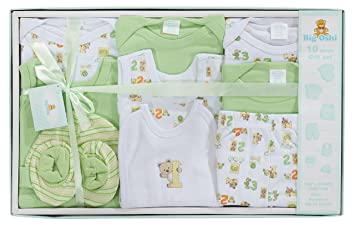 6ac501537c4 Big Oshi 10 Piece Layette Newborn Baby Gift Set for Boys - Great Baby  Shower or