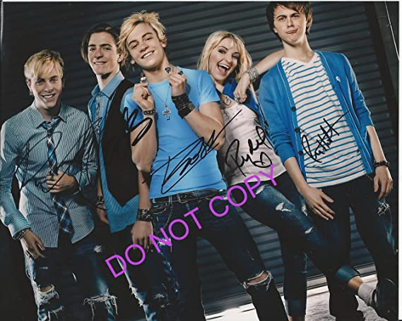 R5 ross lynch reprint band signed photo by all 5 members at r5 ross lynch reprint band signed photo by all 5 members m4hsunfo