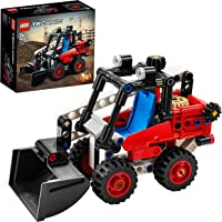 LEGO Technic Skid Steer Loader Toy Excavator to Hot Rod 2 in 1 Set, Construction Vehicle Model