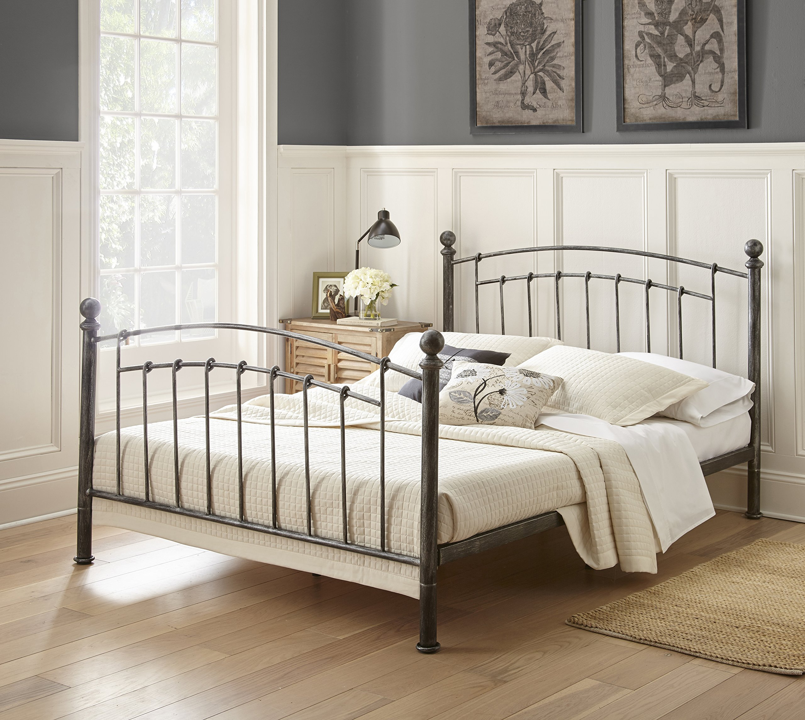 Flex Form Chandler Metal Platform Bed Frame / Mattress Foundation with Headboard and Footboard, Queen by Flex Form (Image #3)