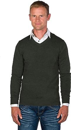 UGHOLIN Mens Cashmere /& Merino V-Neck Sweater
