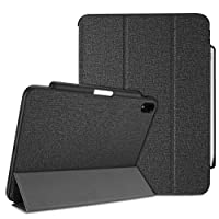 ProCase iPad Pro 12.9 Case 2018 with Apple Pencil Holder [Support Apple Pencil Charging], Protective Smart Cover Shell Stand Folio Case for Apple iPad Pro 12.9 Inch 2018 Release –Black
