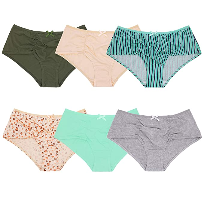 2ddbf4c5f4a Curve Muse Womens Plus Size 100% Cotton High Waist Hipster Panties Underwear -6PK-