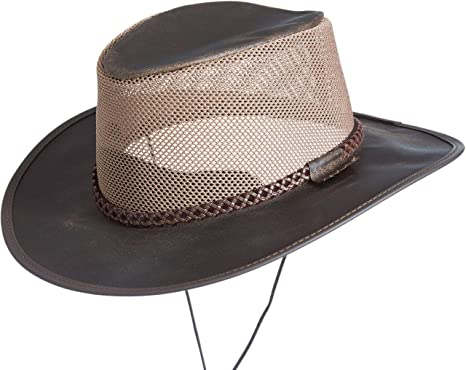 Monterey Bay Crushable Leather Breezer Western Hat at Amazon Men s ... 2d38e0efbb33