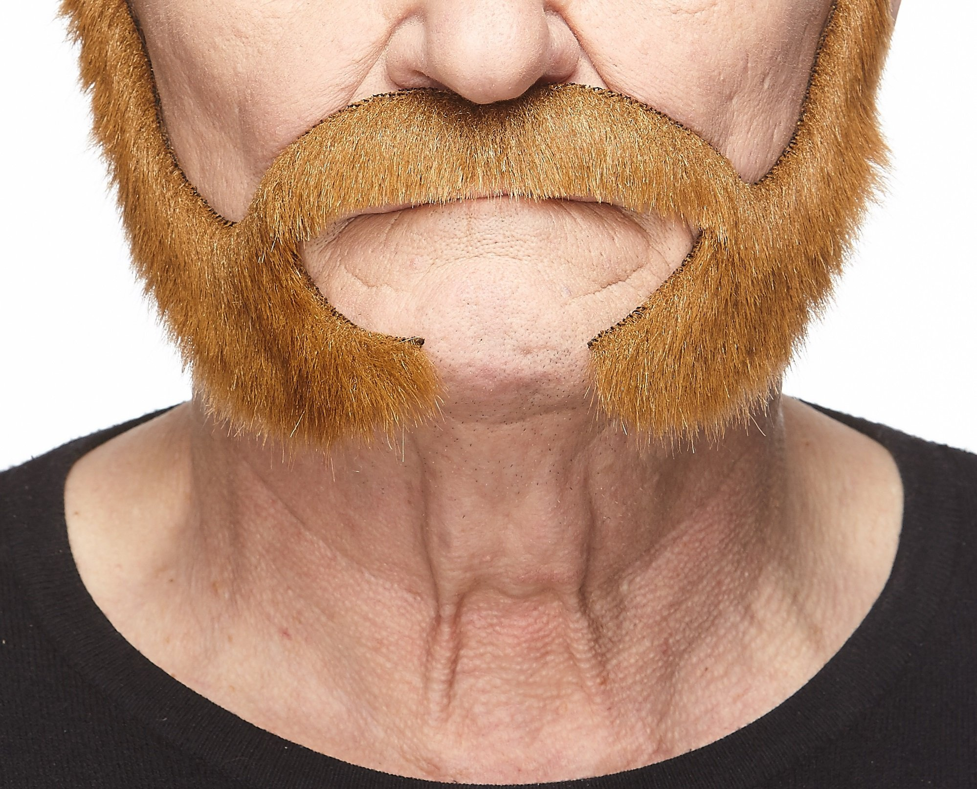 Mustaches Self Adhesive, Novelty, Pedal to The Metal Fake Beard, False Facial Hair, Costume Accessory for Adults, Chestnut Color